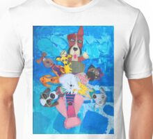 Swirl of peppy pups Unisex T-Shirt