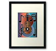 Musical Guitar Framed Print