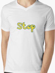 Pokemon Stop Mens V-Neck T-Shirt
