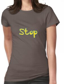 Pokemon Stop Womens Fitted T-Shirt