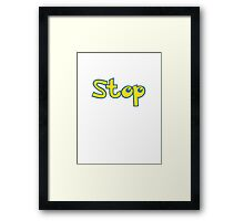 Pokemon Stop Framed Print