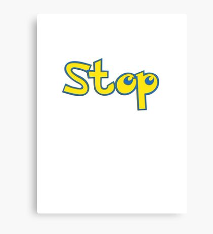 Pokemon Stop Canvas Print