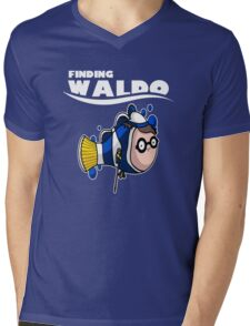 Finding Waldo Mens V-Neck T-Shirt