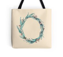 Eucalyptus Wreath on Neutral Tote Bag
