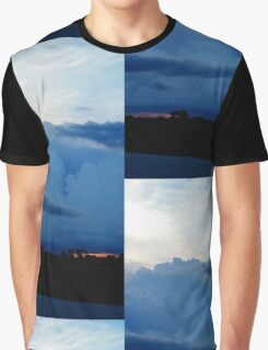 Roll Cloud Stormy Sunset Graphic T-Shirt