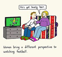 Women watching soccer. by KateTaylor