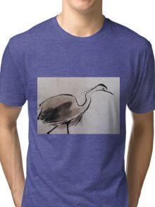 Japanese Crane Tri-blend T-Shirt