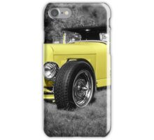 Red Hat - Yellow Hotrod iPhone Case/Skin
