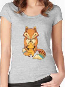 Mom and Baby Fox together Women's Fitted Scoop T-Shirt
