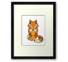 Mom and Baby Fox together Framed Print