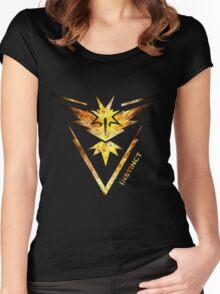 Team Instinct Pokemon Go Gear Women's Fitted Scoop T-Shirt