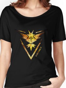 Team Instinct Pokemon Go Gear Women's Relaxed Fit T-Shirt