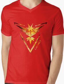 Team Instinct Pokemon Go Gear Mens V-Neck T-Shirt