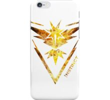 Team Instinct Pokemon Go Gear iPhone Case/Skin