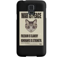 Orwellian Cat Says War Is Peace Samsung Galaxy Case/Skin