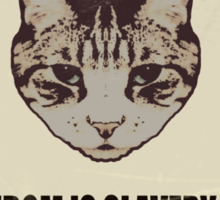 Orwellian Cat Says War Is Peace Sticker