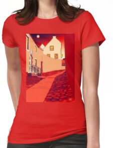 Dysart: Scottish Town digital drawing Womens Fitted T-Shirt