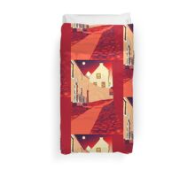 Dysart: Scottish Town digital drawing Duvet Cover