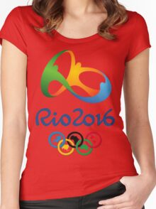 olympic Rio 2016 Women's Fitted Scoop T-Shirt