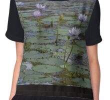 Lotus Blooms  Chiffon Top