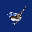 Little Wren on Navy Blue by ThistleandFox