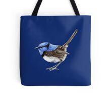 Little Wren on Navy Blue Tote Bag