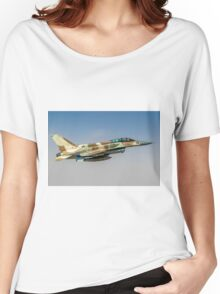 Israeli Air Force (IAF) F-16I Fighter jet in flight  Women's Relaxed Fit T-Shirt