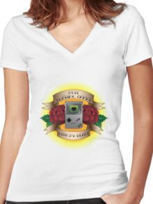 Quit Playing Games With My Heart Women's Fitted V-Neck T-Shirt