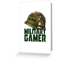 Military Xbox Gamer Greeting Card