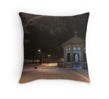 Saint Mary's College in the Snow Throw Pillow