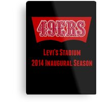 San Francisco 49ers Levi's Stadium with Text Metal Print