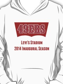 San Francisco 49ers Levi's Stadium with Text T-Shirt