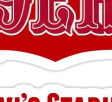 San Francisco 49ers Levi's Stadium with Text Sticker