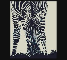 """Zebra"" Pen, Ink, & Black Paint on Gesso Baby Tee"