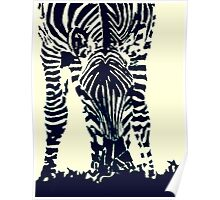 """Zebra"" Pen and Ink Poster"