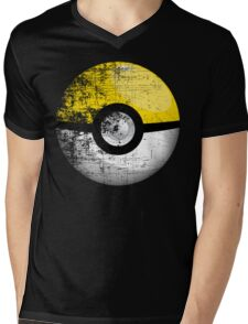 Destroyed Pokemon Go Team Yellow Pokeball Mens V-Neck T-Shirt