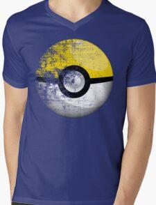 Destroyed Pokemon Go Team Yellow Pokeball Mens V-Neck T-Shirt