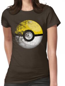 Destroyed Pokemon Go Team Yellow Pokeball Womens Fitted T-Shirt