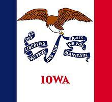 Iowa State Flag by Carolina Swagger