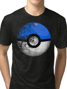 Destroyed Pokemon Go Team Blue Pokeball Tri-blend T-Shirt