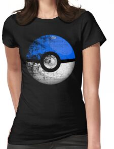 Destroyed Pokemon Go Team Blue Pokeball Womens Fitted T-Shirt