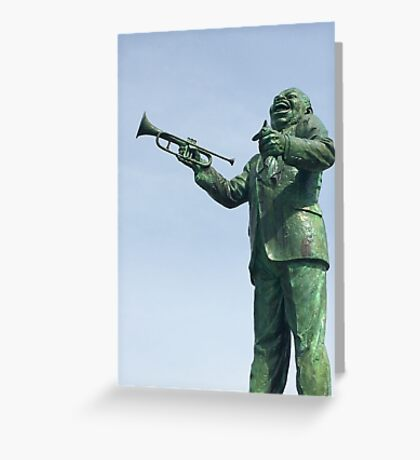 Louis Armstrong Statue New Orleans Greeting Card