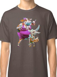 Silly Fat Cow and a Two-faced B***h Classic T-Shirt
