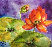 Lotus sweetness by Rosalind Clarke