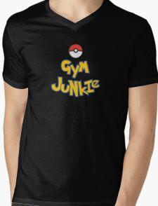 Gym Junkie Mens V-Neck T-Shirt