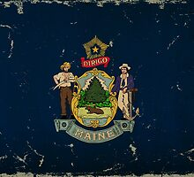 Maine State Flag VINTAGE by Carolina Swagger