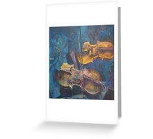 Violin play 2 Greeting Card