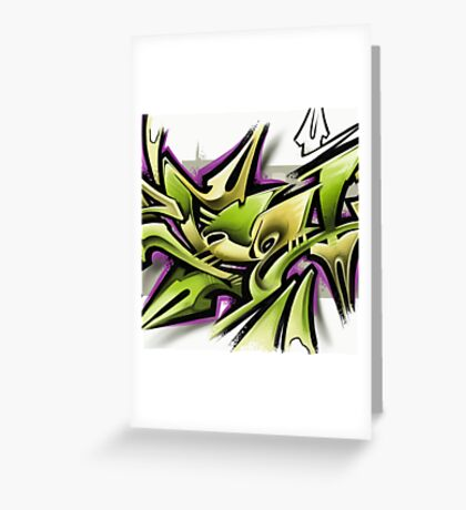 Graffiti - Zbel Greeting Card