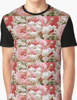 Roses and Babies Breath Graphic T-Shirt