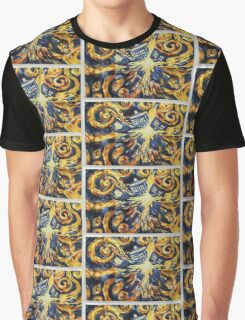 Exploding Tardis Painting Graphic T-Shirt